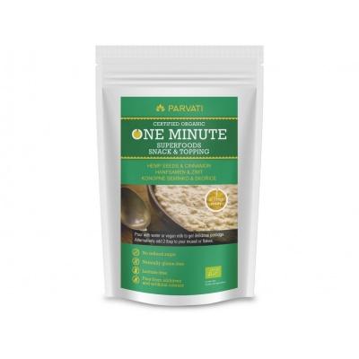 Bio Snídaňová směs One Minute Snack konopné semínko-skořice 300g