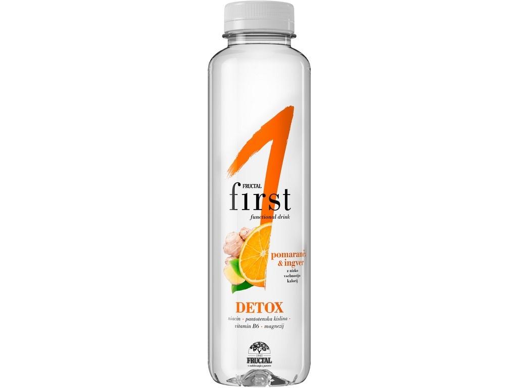 Funkční voda pomeranč - zázvor 0,5l