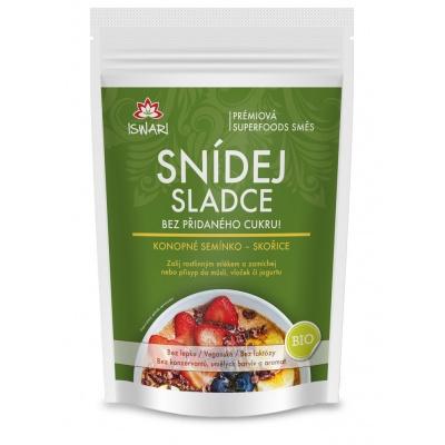 Snídej sladce konopné semínko-skořice 360 g