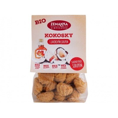 Bio kokosky s javorovým sirupem 100g