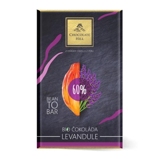60% Levandulová čokoláda BIO 60 g