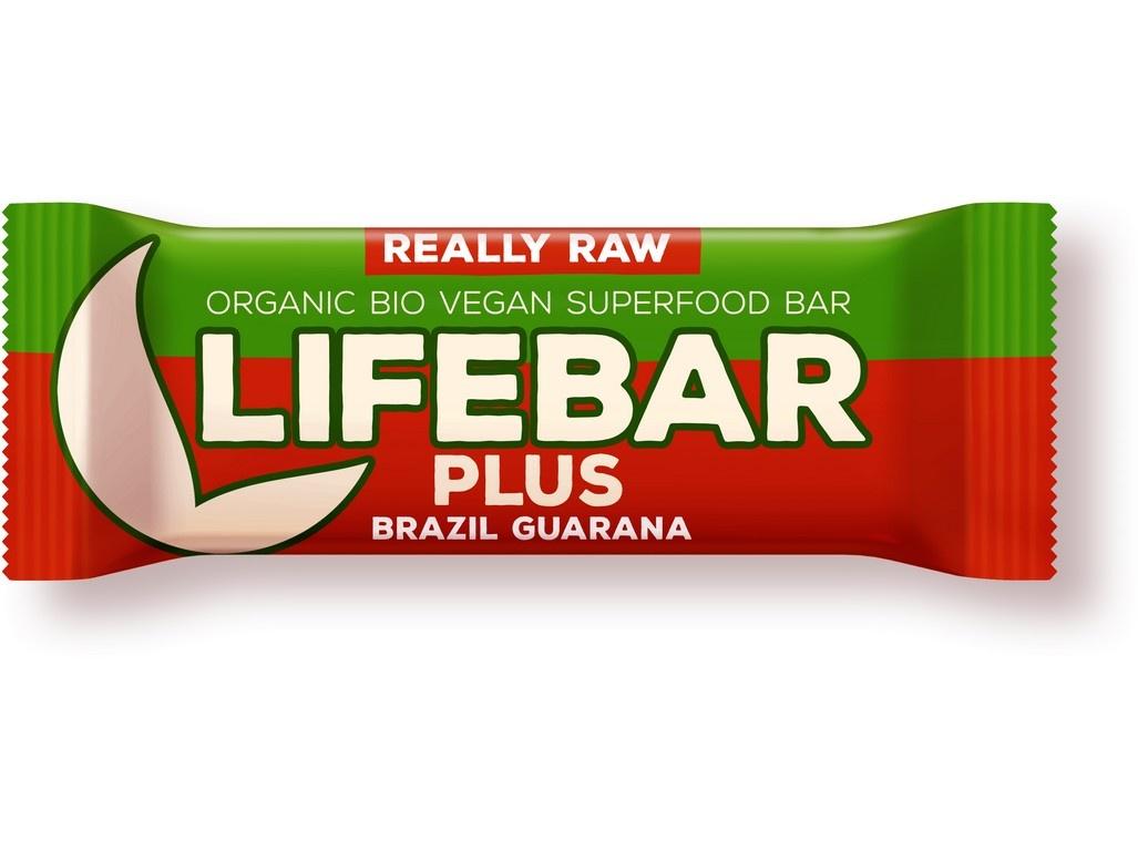 Bio tyčinka Lifebar Plus Guarana a Brazil 47g