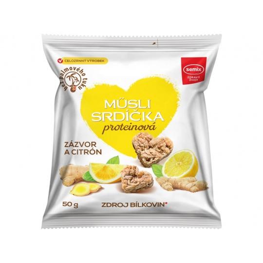 Proteinová srdíčka se zázvorem a citronem 50g