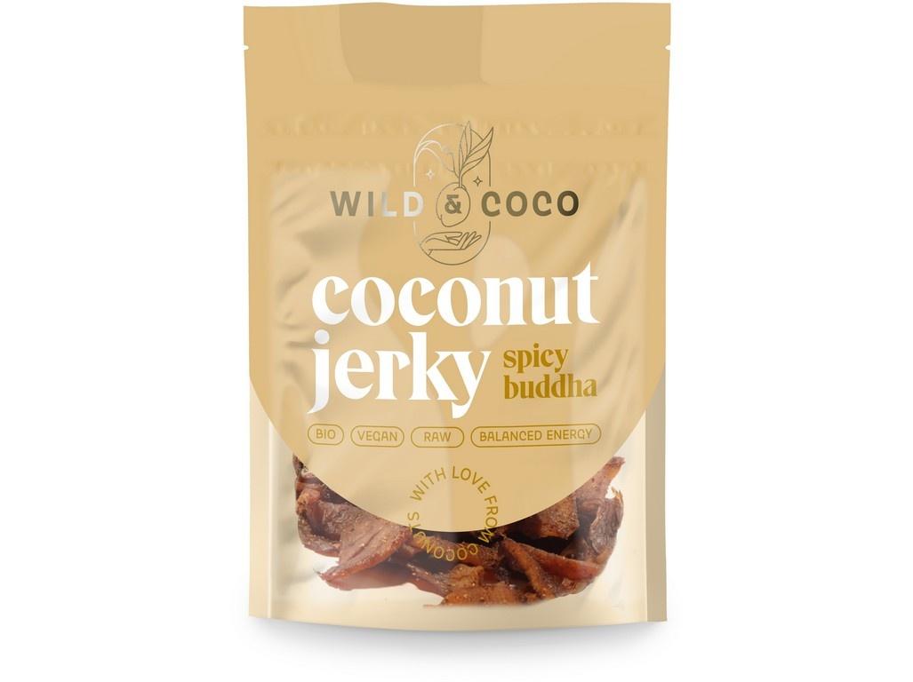 Bio kokosové jerky pikantní buddha 25g