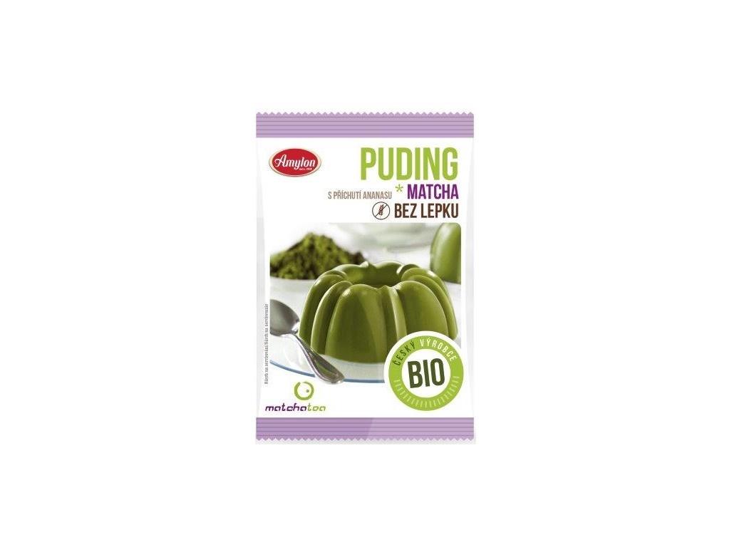 Bio Puding matcha ananasový, bez lepku 40g