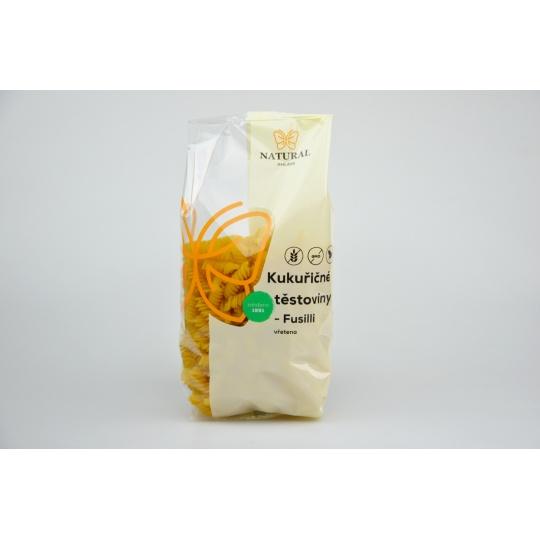 Těstoviny kukuřičné - vřetěna /fusilli/  bez lepku - Natural 300g