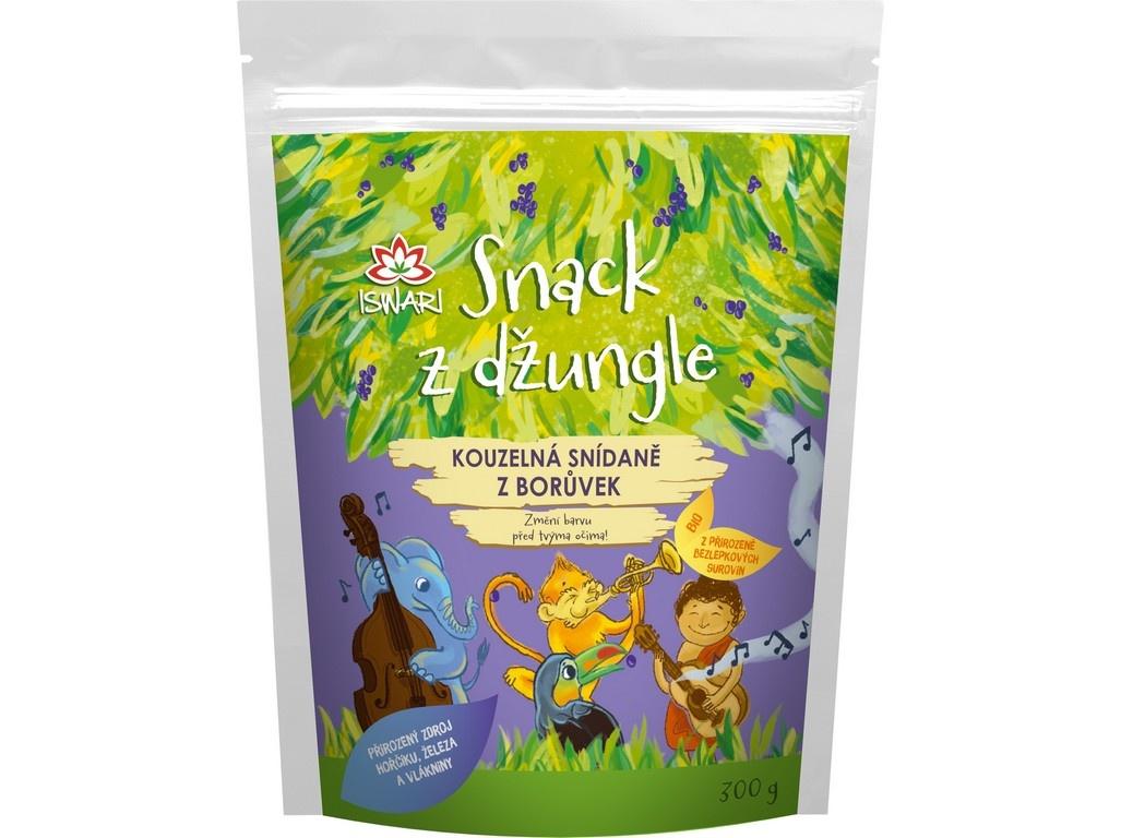 Bio Snídaňová směs snack z džungle borůvka (dětská snídaně) 300g