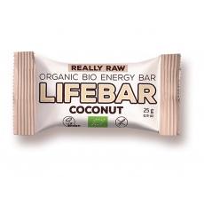 AKCE - Bio tyčinka Lifebar kokosová RAW 25g. Min. trv. 27.11.2021