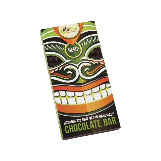 Bio Lifefood Chocolate s konopným semínkem 70g