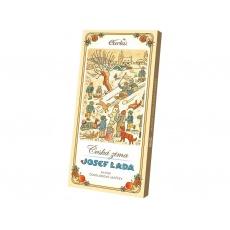 Čokoládové jazýčky mléčné - vánoce LADA 50g