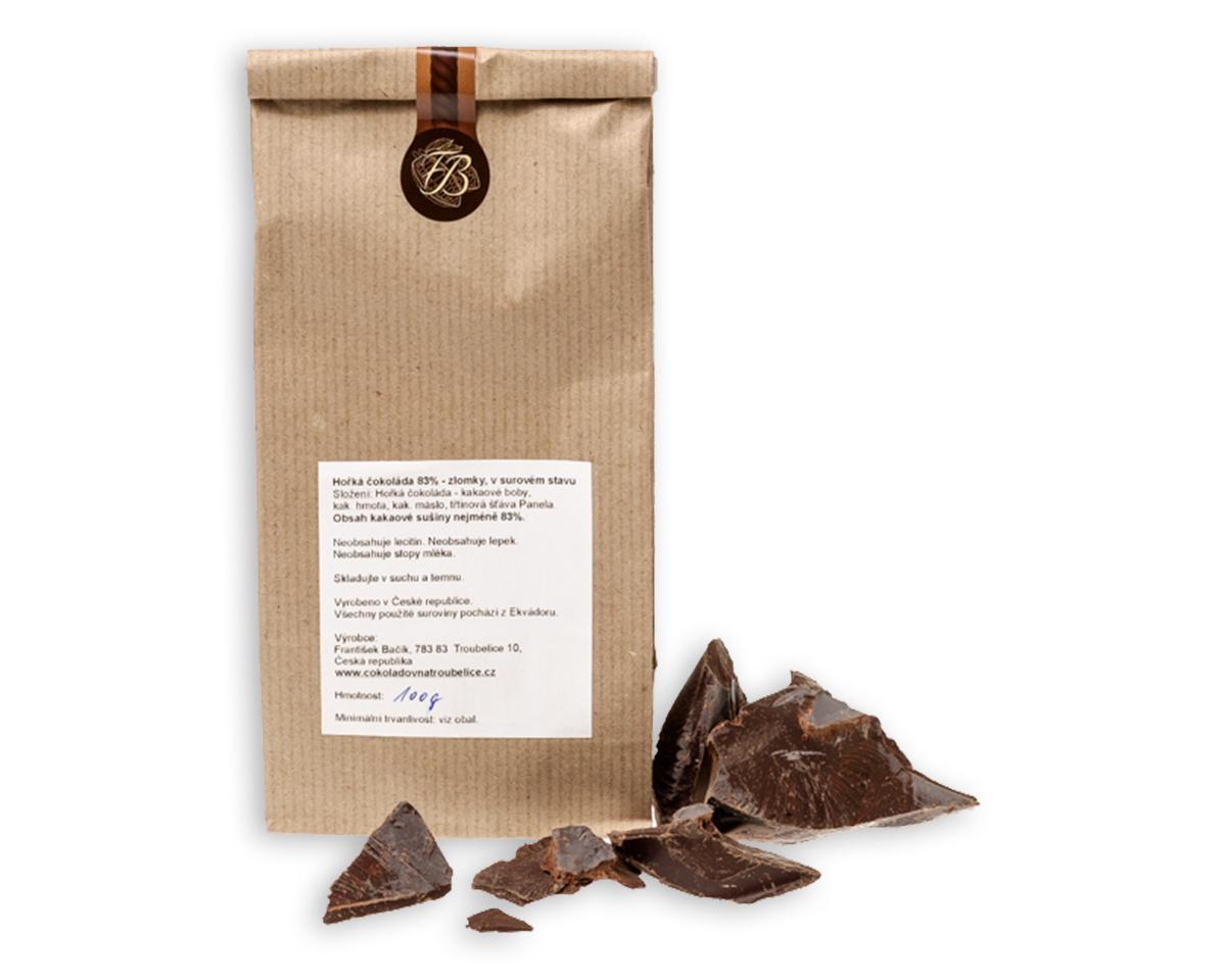 Čokoláda hořká 83% Zlomky 100 g