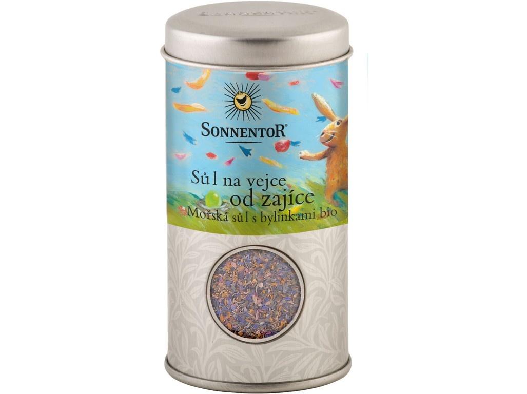Bio Sůl na vejce od zajíce, mořská sůl s  bylinkami 90g dózička