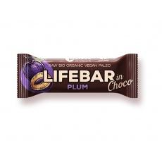 Bio tyčinka Lifebar InChoco Švestka 40 g