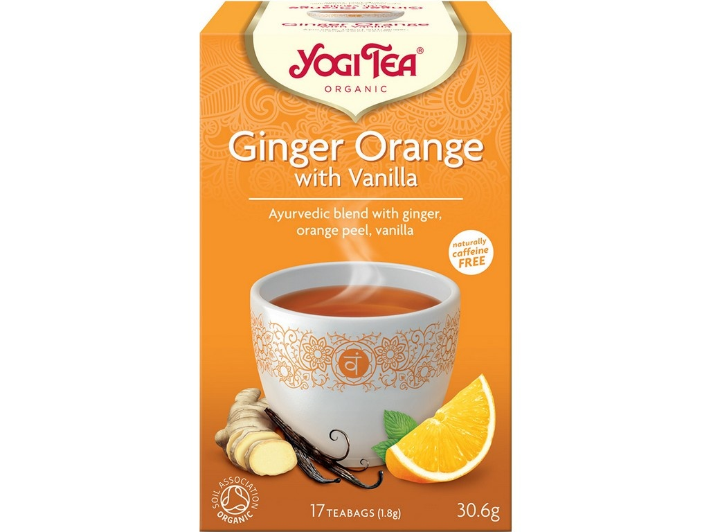 Bio Zázvor Pomeranč s vanilkou Yogi Tea 17 x 1,8 g