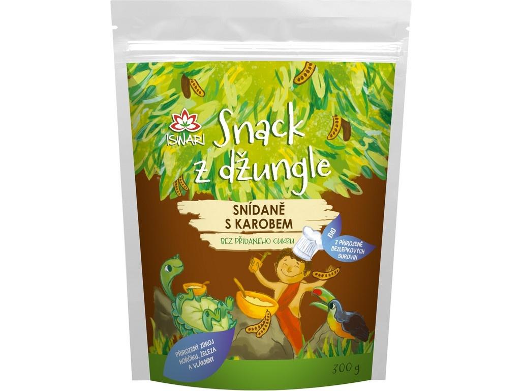 Bio Snídaňová směs snack z džungle karob (dětská snídaně) 300g