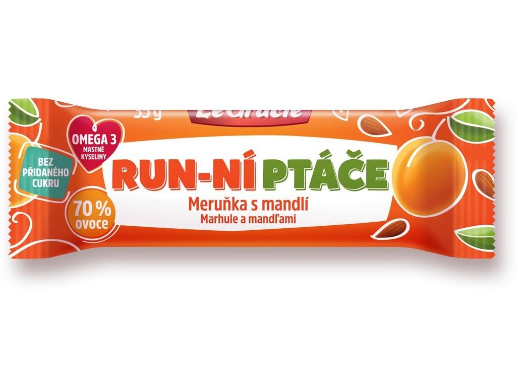 Tyčinka Run-ní ptáče meruňka a mandle s chia 35g