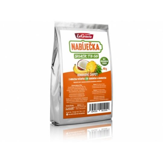 Low Carb | KETO svačinka – kokosové chipsy s lyofilizovaným ananasem a banánem 40g min.trv.10.9.2021