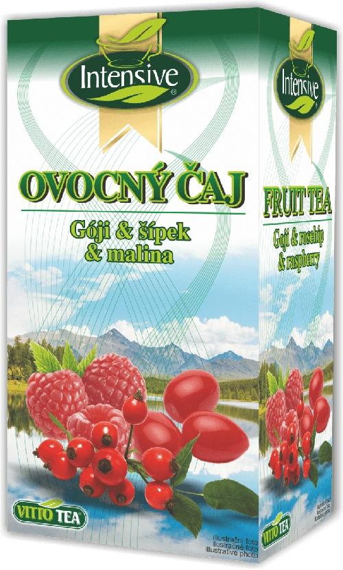 AKCE Intensive čaj Gója šípek malina ovocný porcovaný 40 g