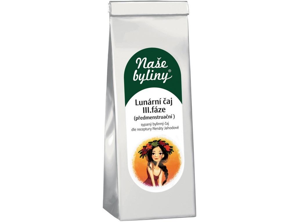 Naše byliny - Lunární čaj III.fáze (premenstruační) 50g