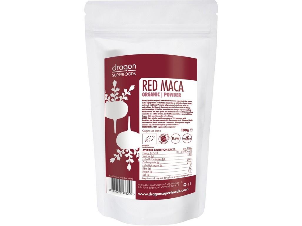 Bio Prášek Maca červená RAW 100g