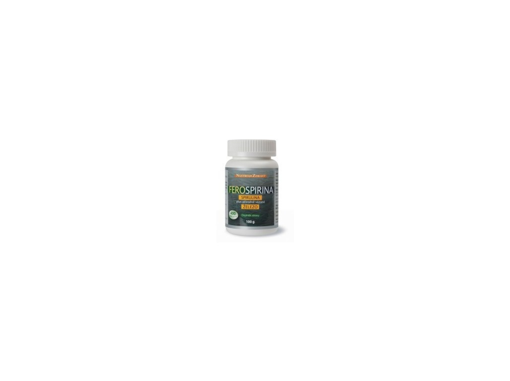 Ferospirina, Spirulina plus přírodně vázané železo 100 g - 400 tbl