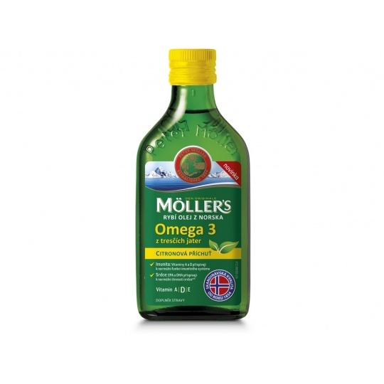 Möller's Omega 3 rybí olej citrón, 250ml