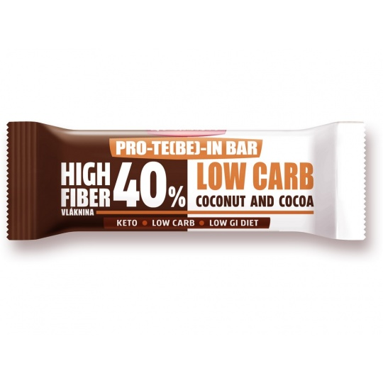 Low Carb   High Fiber Slimka tyčinka - kakao 35g EXP 18.06.2021