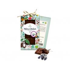 Bio čokoláda s levandulí - mléčná 80g