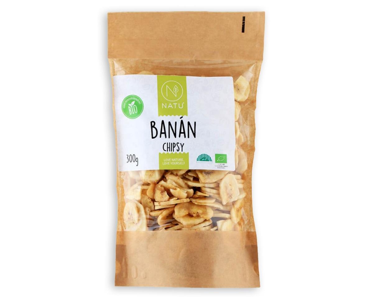 Banán chipsy BIO 300 g
