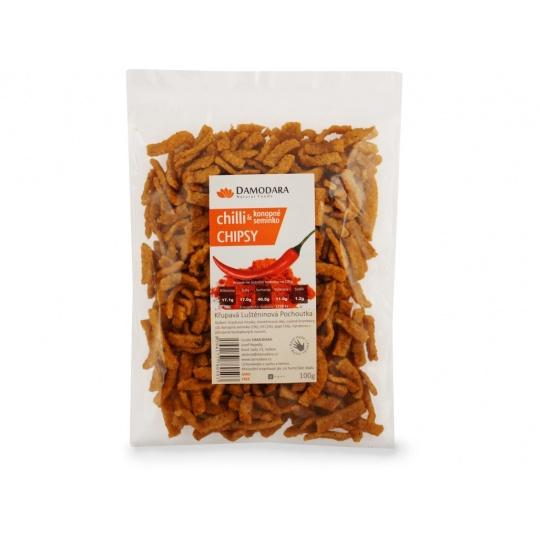 Chilli chipsy (chilli a konopné semínko) 100g