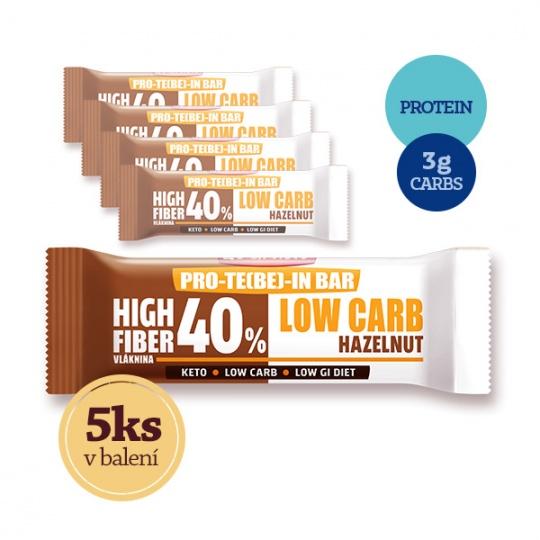 4+1 ZDARMA Low Carb   High Protein tyčinka - lískový ořech 35g