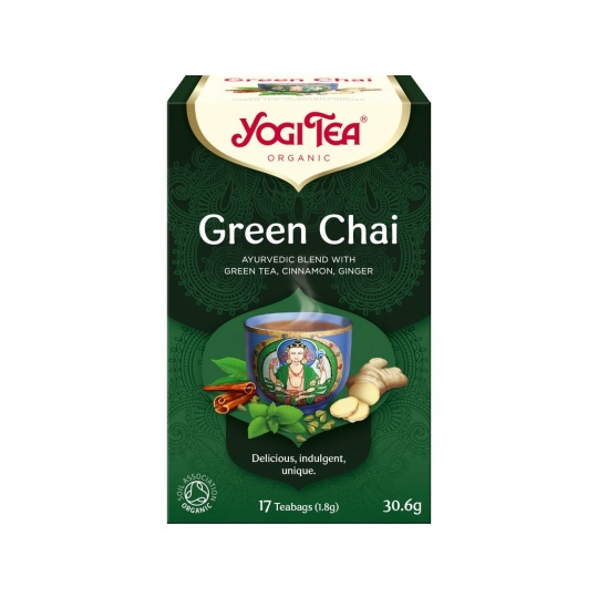 Bio Zelený chai Yogi Tea 17 x 1,8 g
