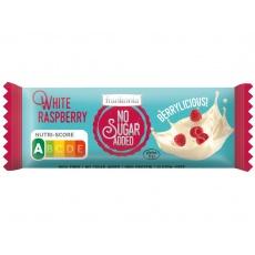 Tyčinka Čokoládová bílá - Malina bez přidaného cukru 50g