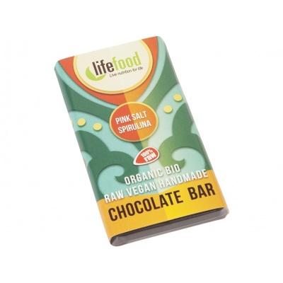 Bio Lifefood mini čokoládka slaná se spirulinou 15g