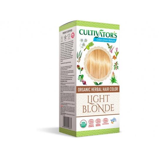 Bio přírodní barva na vlasy 100% 2 - Světlá Blond 100g