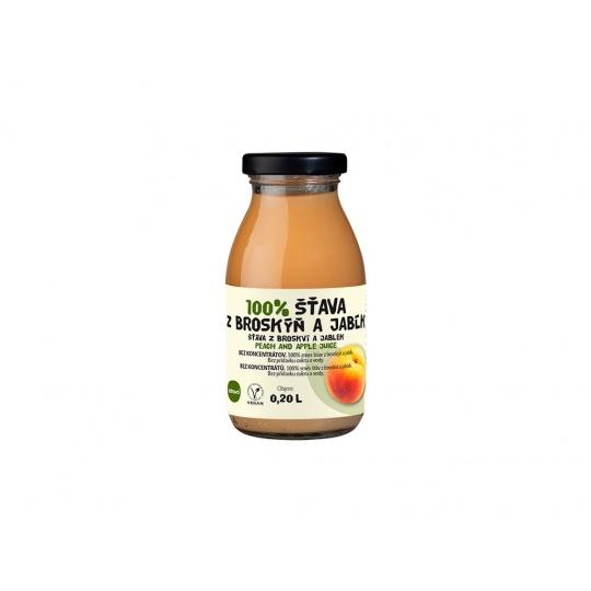 Šťáva 100% broskvovo-jablková 0,2 l