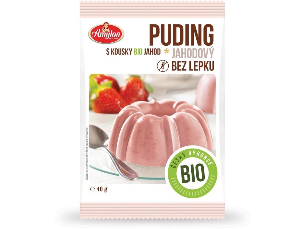Bio Puding jahodový Amylon 40g