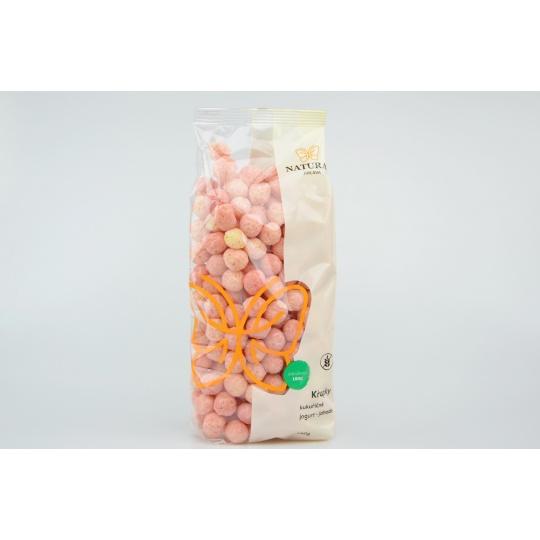 Křupky kukuřičné jogurt - jahoda - Natural 140g
