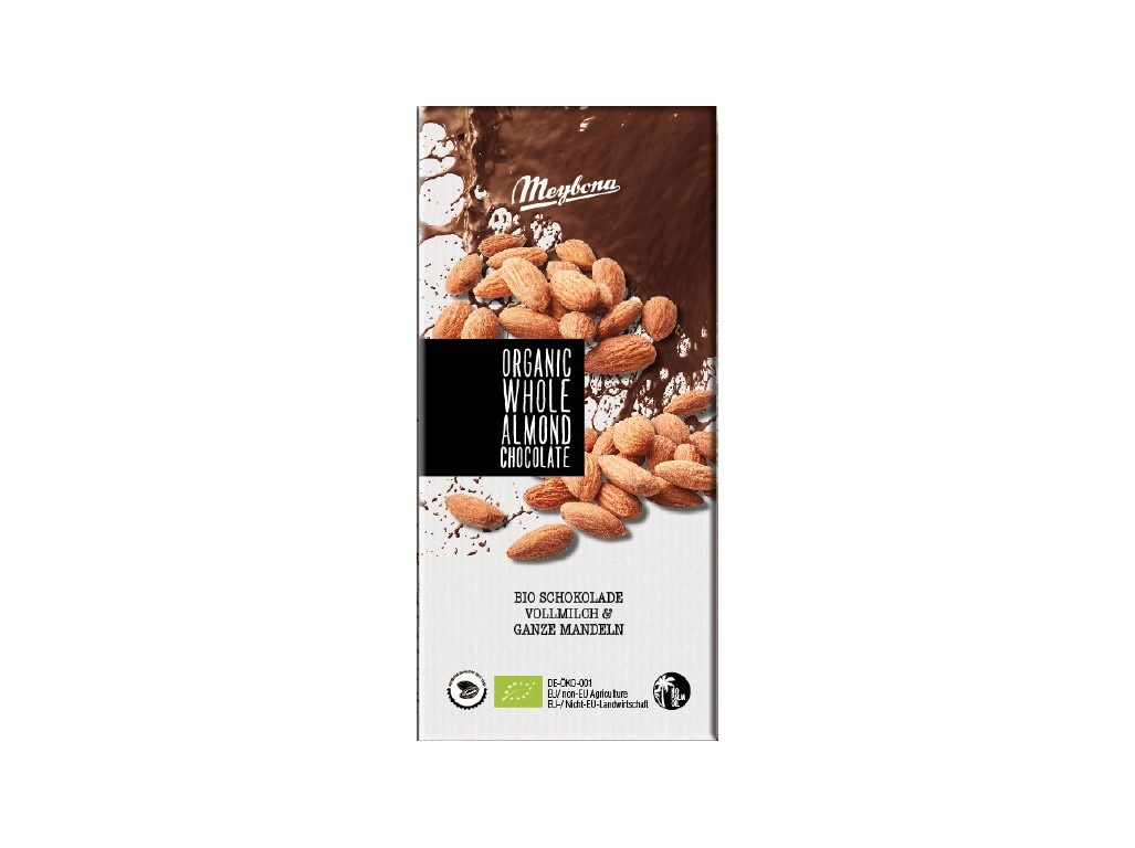 Bio mléčná čokoláda s celými mandlemi 100g