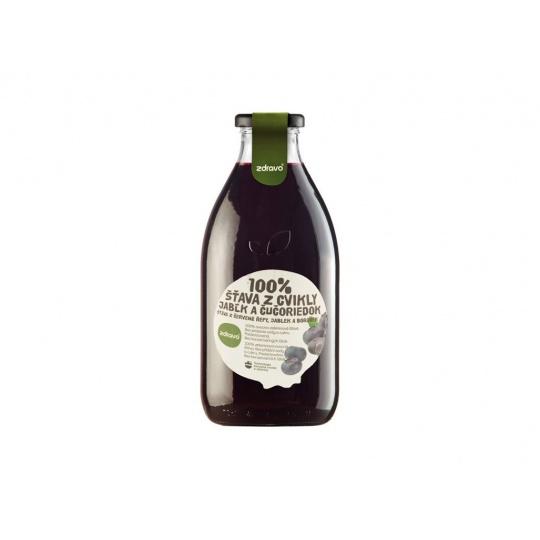 Šťáva 100% řepovo-borůvkovo-jablková 0,75l
