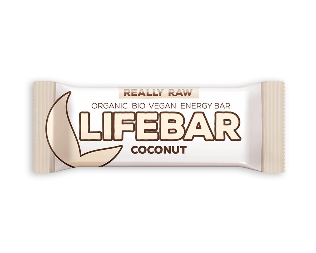 Lifebar tyčinka RAW BIO 47 g - kokosová
