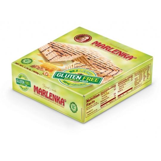 Bezlepkový medový dort Marlenka s oříšky 800g