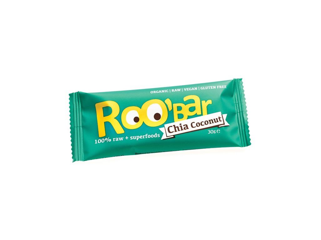 Bio tyčinka Roobar Datlová s chia a kokosem 30g RAW