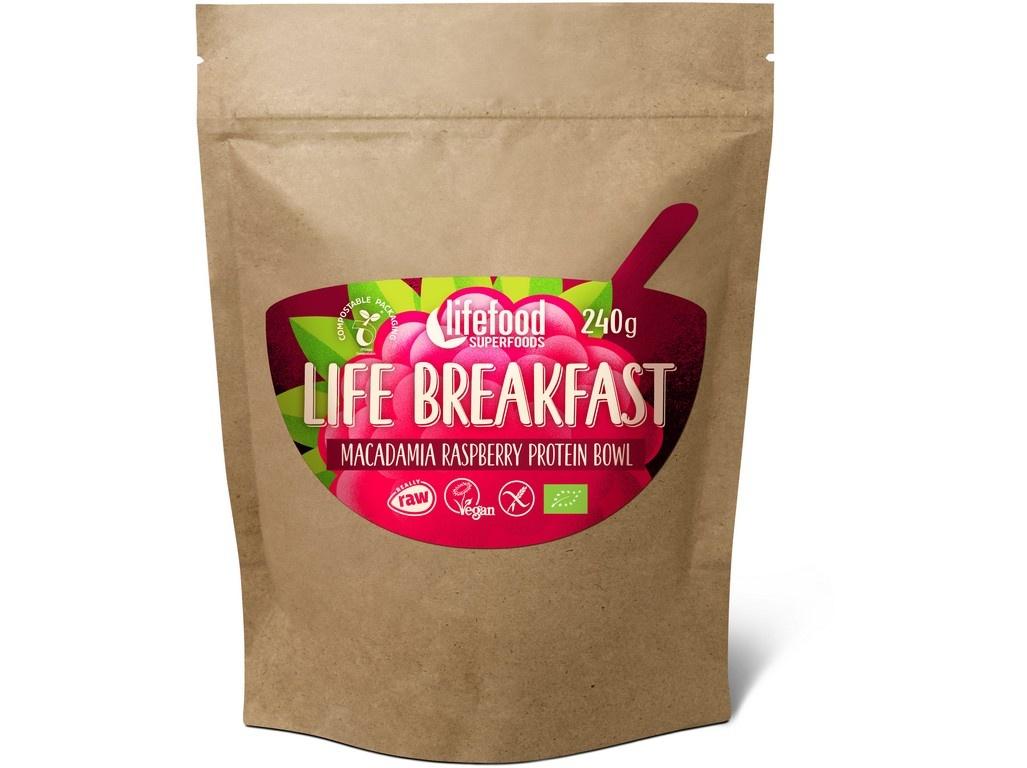 Bio Life breakfast Kaše malinová s makadamiemi 300g