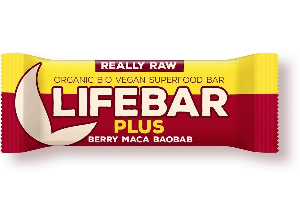Bio tyčinka Lifebar Plus třešňová s macou a baobabem 47g