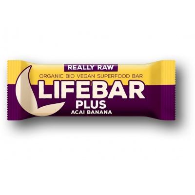 Bio tyčinka Lifebar Plus acai banán 47g