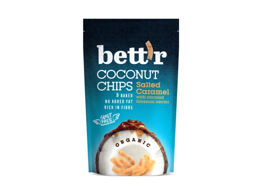 Bio Kokos chips se slaným karamelem 70g
