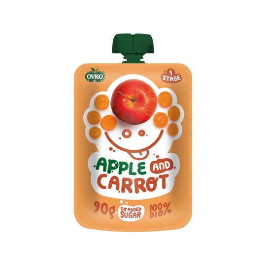 Bio kapsička jablko, karotka OVKO 90g