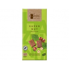 Bio čokoláda s oříšky iChoc 80 g