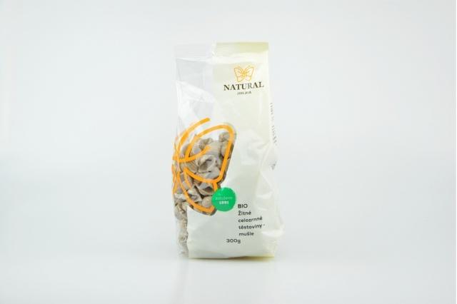 Těstoviny žitné celozrnné - mušle BIO 300 g